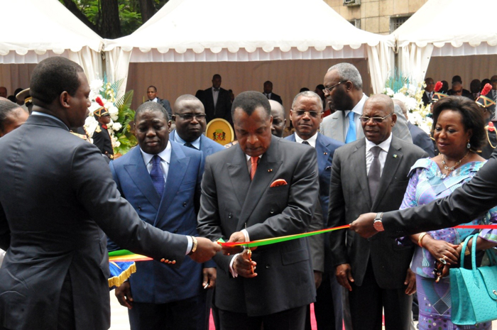 the-president-of-republic-of-congo-cut-the-ribbon-for-the-new-office-building-of-bgfi-bank